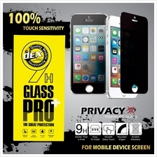 PRIVACY TEMPERED GLASS FOR IPHONE 4G,5G,6G,6PLUS,7G AND 7 PLUS