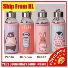 Water Protector Sleeve Glass Healthy Bottle with Warmer Bag