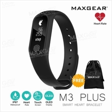MAXGear M3 PLUS Heart Rate Smartband Monitor OLED Fitness Wristband MI