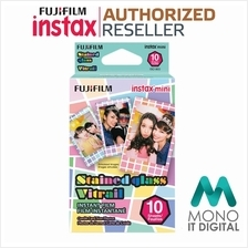 OFFICIAL) Fujifilm Instax Mini Stained Glass Film (10 pcs)