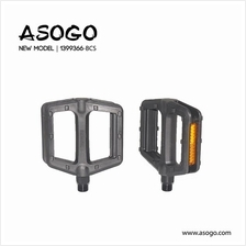 Asogo Bicycle Pedal (Plastic+Steel) for 9/16 1399366-BCS