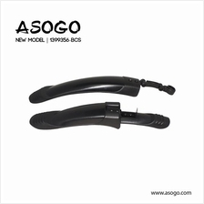 Asogo Bicycle Black Mudguard for 24' to 27.5' Bicycle 1399356-BCS
