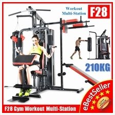 Top 210KG Gym Fitness 3 Stack Multi Station Strength Trainer Exercises