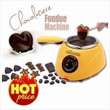 Chocolate Melting Pot Chocolate Fondue Yellow Color and Pink