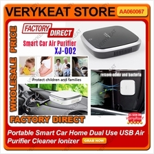 Portable Smart Car Home Dual Use USB Air Purifier Cleaner Ionizer