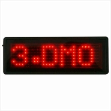 LED Name Tag Display (Red)