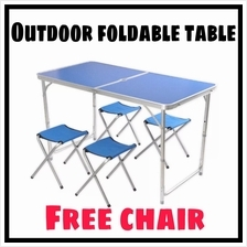 Portable Foldable Aluminium Outdoor Table Camping Table FREE CHAIR