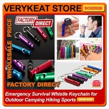 Emergency Survival Whistle Keychain for Outdoor Camping Hiking Sports