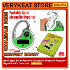 Solar Portable Ultrasonic Mosquito Repellent Repeller with Compass