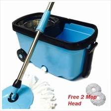 Magic Spin Mop Stainless Steel Rotation Cleaner Bucket With Wheel