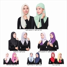 [DindabyV] Twin Color Design Hood HIjab AE35022)