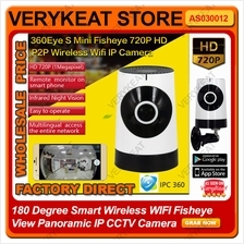 180 Degree Smart Wireless WIFI Fisheye View Panoramic IP CCTV Camera