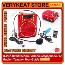 K-202 Multifunction Portable Megaphone FM Radio - Teacher Tour Guide