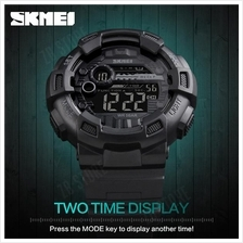 SKMEI 1243 Man Sports Digital Wristwatches Both Time Clock Timing
