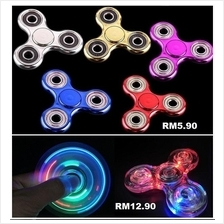 Electroplated Tri-wing Fidget Spinner,Crystal Rainbow Transparent Spin