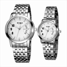 EYKI E-TIMES UNIQUE Couple Stainless Steel Watch W8408WH White 1 pair