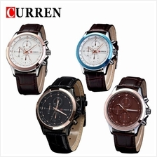 Curren 8138 Men's Fashion Leather Strap Watch