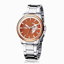 Eyki Overfly W8530G With Day Date Stainless Steel Watch Brown