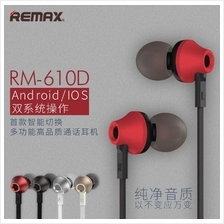 ORI REMAX RM-610D Universal Premium In-Ear Handsfree Earphones Earpods