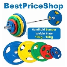 Olympic Handhold Bumper Weight Plates Dumbbell Barbell 10kg 15kg 5cm