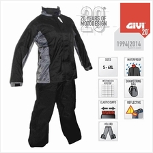 Original GIVI RRS07 Rider Tech Rainsuit 5000mm Water Resistance