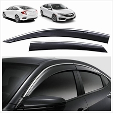 HONDA CIVIC FC 2016-2017 Chrome Lining Injection Door Visor with Clip