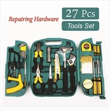 27 Pcs Hardware Tools Set Repairing Tools Kit with Box