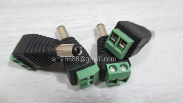 *CCTV^Camera Power Adapter MALE Plug Connector Wire Joint Cable