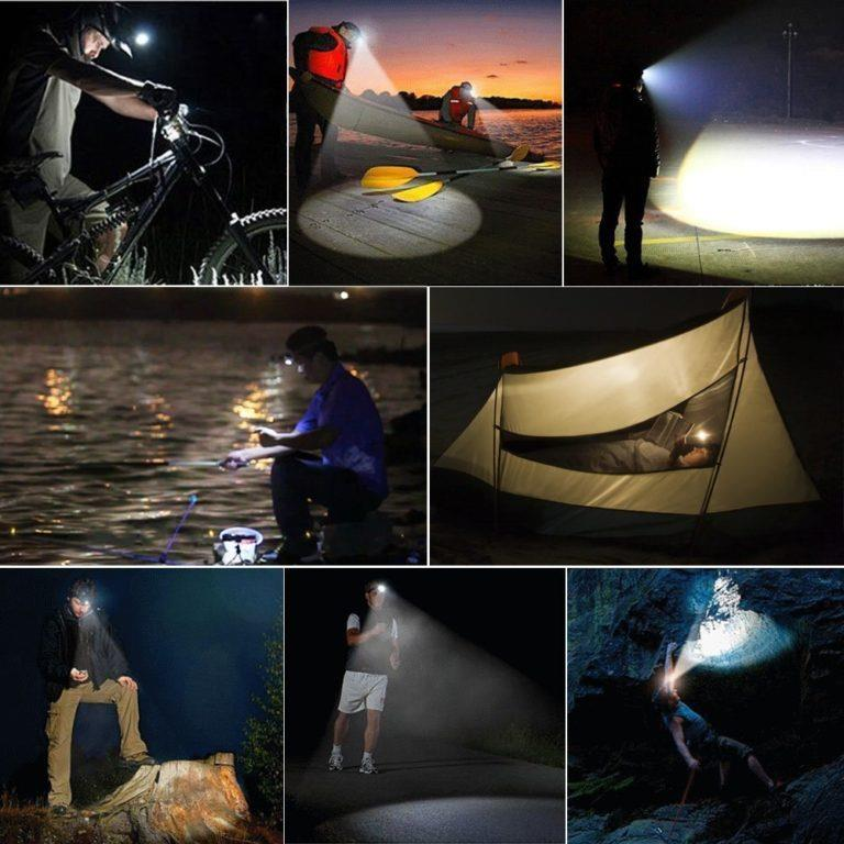 *Head Lamp 7 LED Bicycle Torch Light Reading Camping