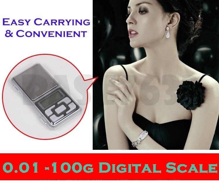 0.01g- 100g  Digital Portable Pocket Jewelry Weighing Scale