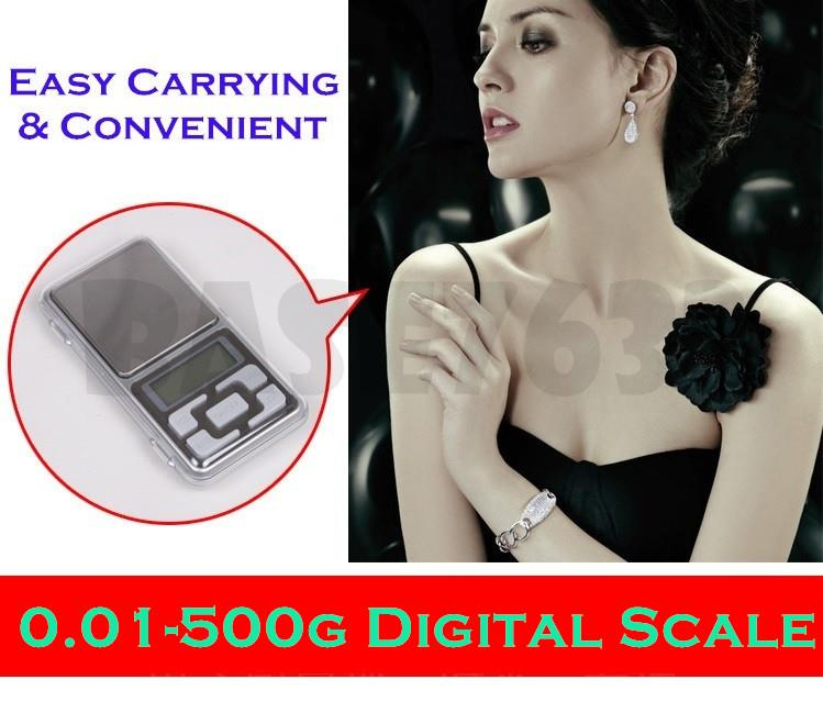 0.01g - 500g 0.01 500 Digital Portable Pocket Jewelry Weighing Scale