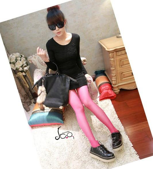 00147 Korean Slim was thin black long-sleeved dresses