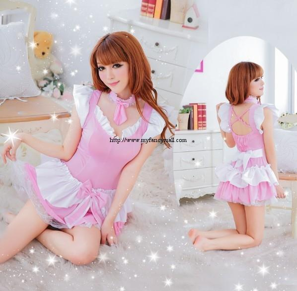 00525 Sexy Role-playing Models Nightwear Lingerie Three-piece