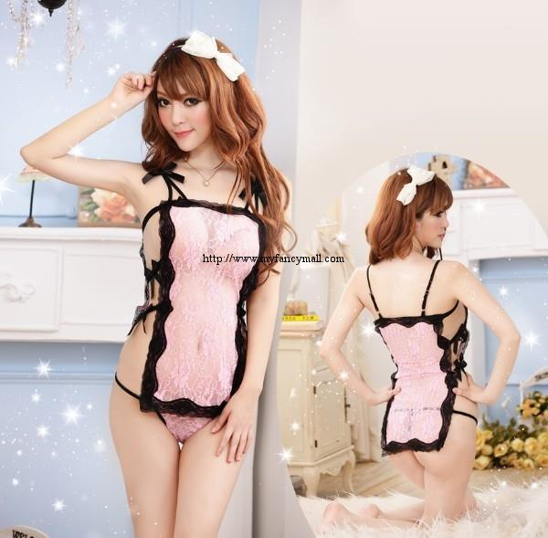 00785 Sexy Sleep Lingerie Underwear Pyjamas Nightwear Skirt+T