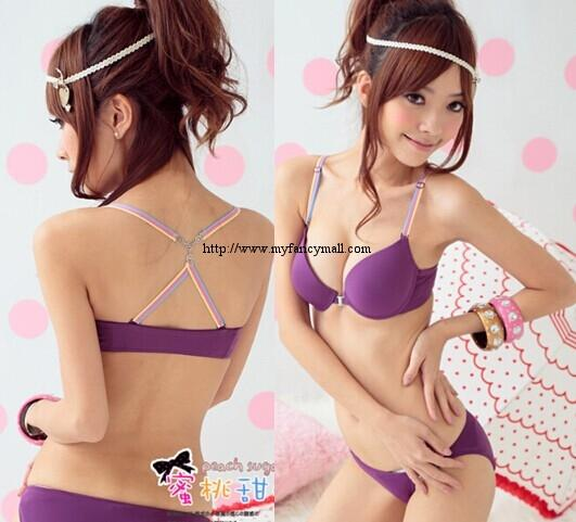 01942 Korean Style Seamless Push Up Bra Set