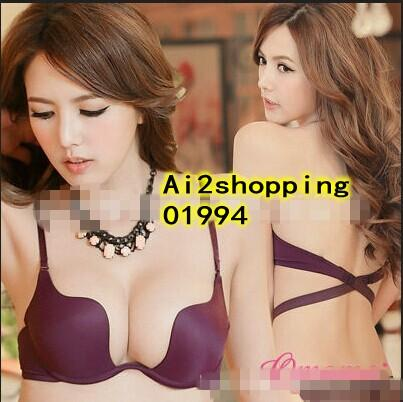 01994UP lifts gather wild purple super multi wear Underwear Bra Suit