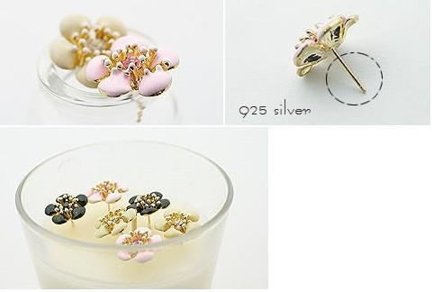 02332Korean plum earrings (pink)