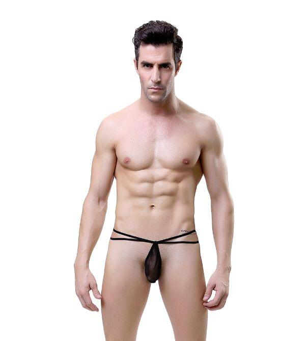 02565Men's new thin band perspective sexy underwear Underpants panties