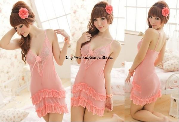04060 Sexy Sleep Lingerie Underwear Pyjamas Nightwear Skirt+T