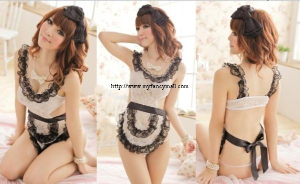 04066 Sexy Sleep Lingerie Underwear Pyjamas Nightwear Skirt+T