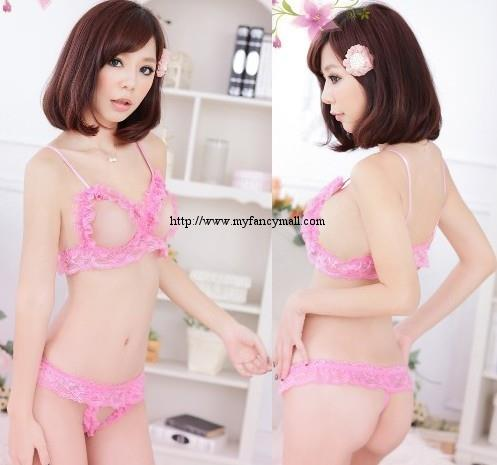 04121 Sexy Bikini pajamas onesies Nightwear Lingerie Three-point