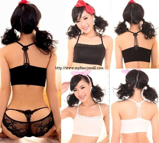 04286 Korean Lace Singlet Vest Blouses T-Shirts Bra Top