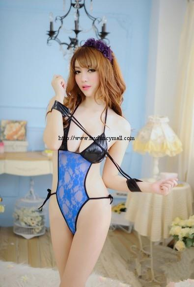 04741 Sexy Sleep Lingerie Underwear Pyjamas Nightwear leotard + gloves