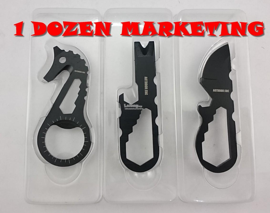 1 Dozen 3 Pieces Outdoor Portable Pocket Multifunction Tool