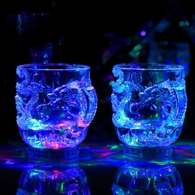 1 PCs Creative Dragon Acrylic Cup LED Color Changing Water Inductive