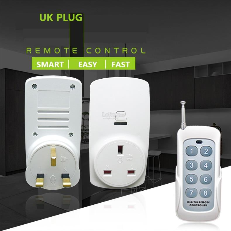1 Remote Control + 2/3/4 Smart Home RF Wireless Socket UK Plug Set