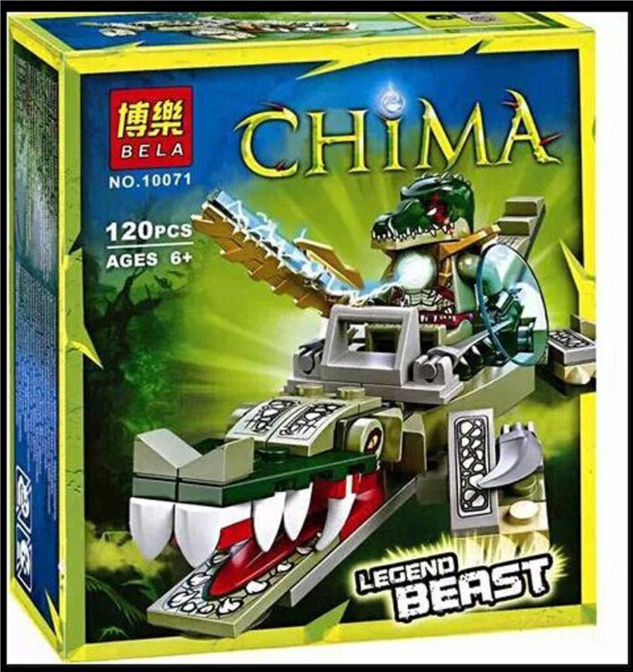1 Set Chima Crocodile Legend Beast Building Blocks 120PCS No Box