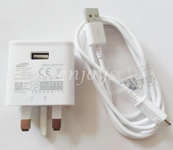 100% ORIGINAL EP-TA20UWE Charger Cable Samsung Note 4 5 S6 S7 Edge+