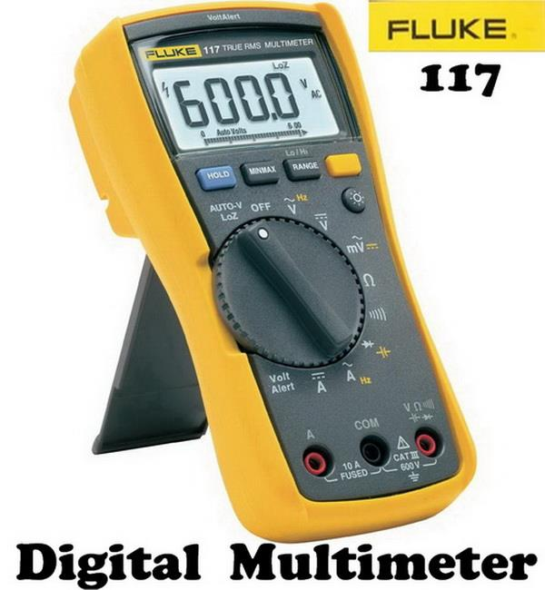 100% Original ~ Fluke 117 Digital Multimeter LCD, 6000 counts