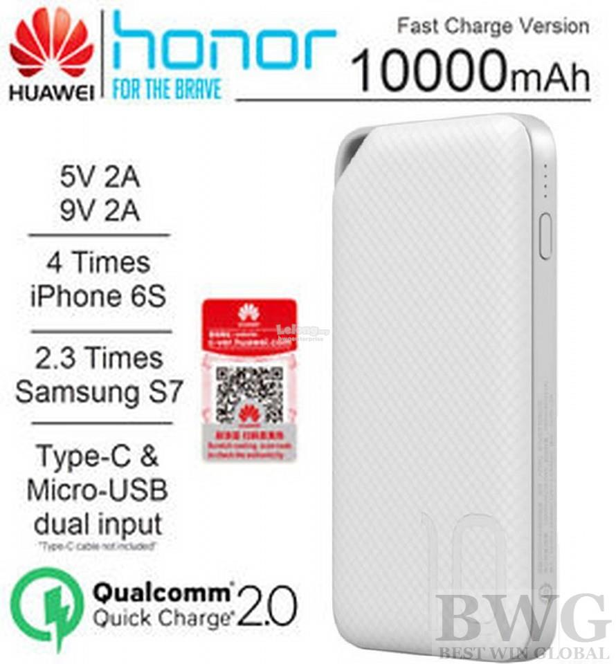 100% Original HUAWEI Honor Fast Quick Charge Portable Powerbank 10000m